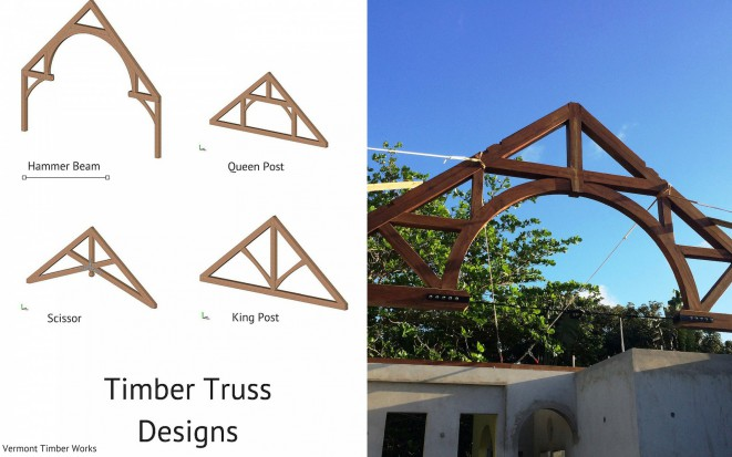 Custom Timber Frame Hammer Beam Truss