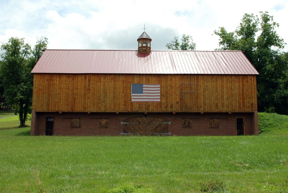 custom timber frame oak barn