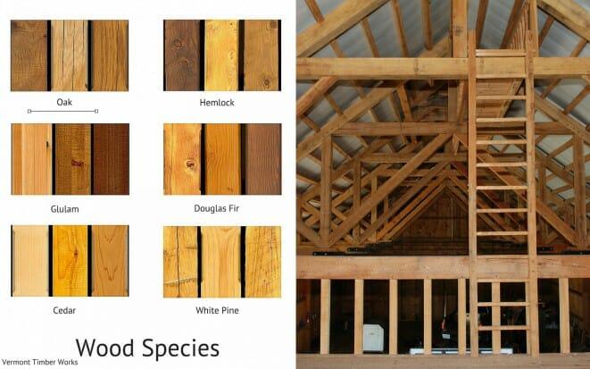 custom timber frame wood species oak