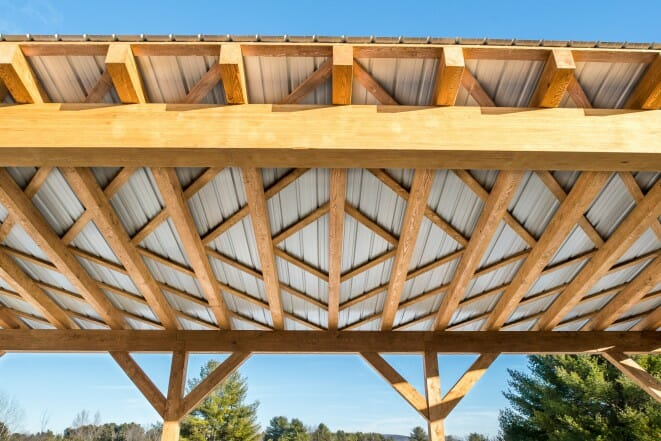 Timber framing vs post and beam construction for Timber frame bridge