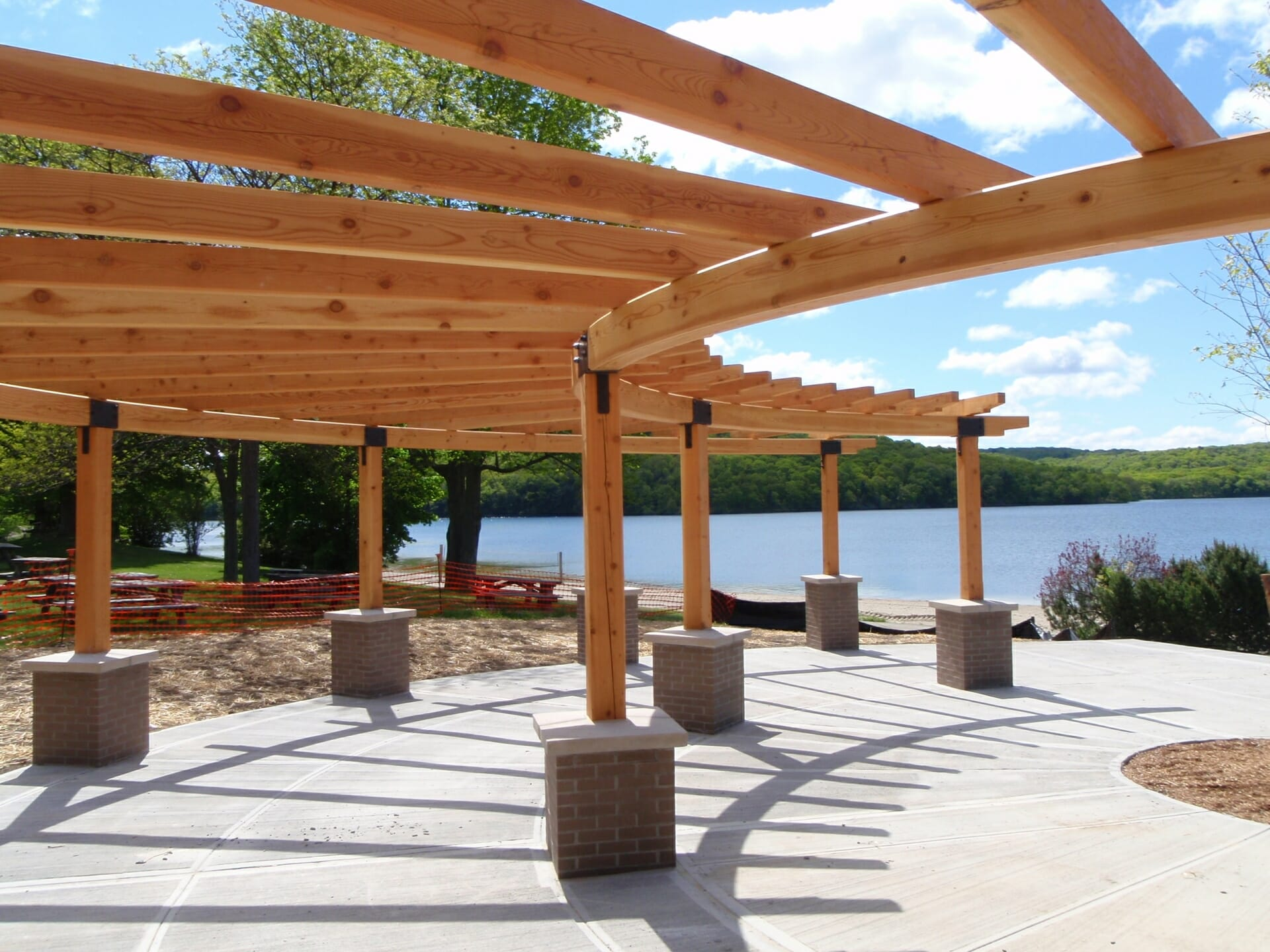 outdoor park timber frame