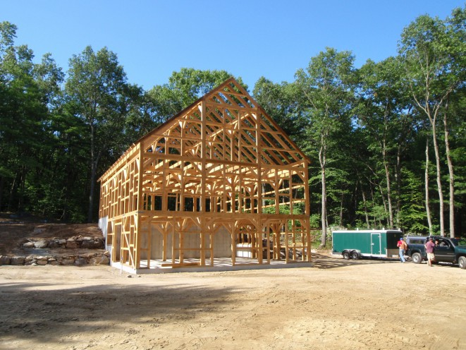 3 story timber frame horse barn