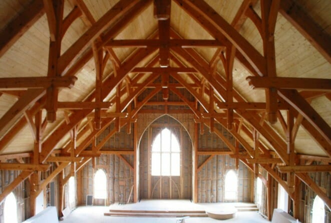 timber church ceiling