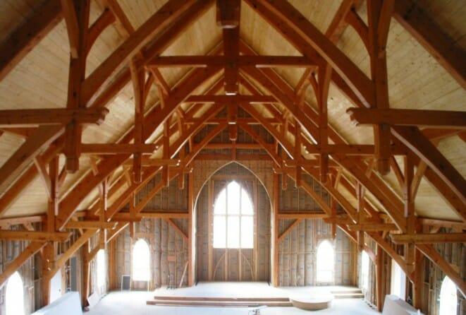 Beautiful Timber Church Ceilings
