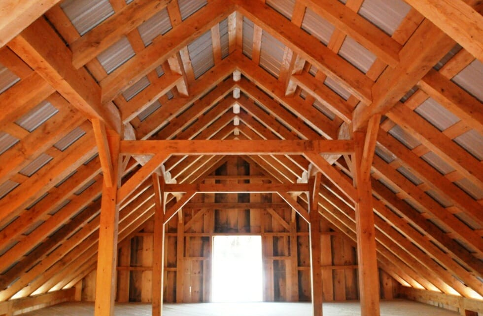 timber framed hay loft