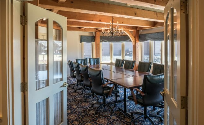 Exposed Beams in Von Trapp Family Lodge