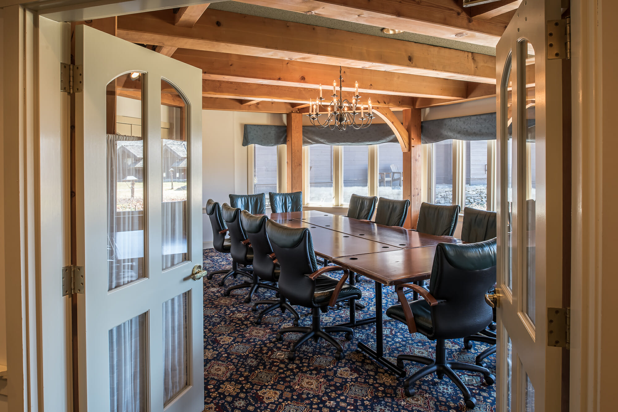 Heavy Timber Ceiling Beams For The Trapp Family Lodge