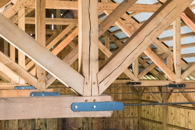 Checking in an Oak Timber Frame
