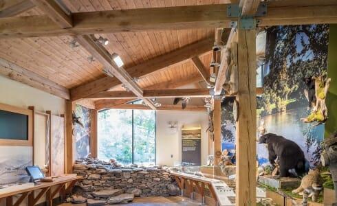 Interior of the Shenandoah State Park Visitors Center in Virginia