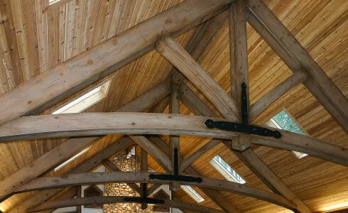 King Post Trusses with Steel Plates in the Reed Pool House in OH