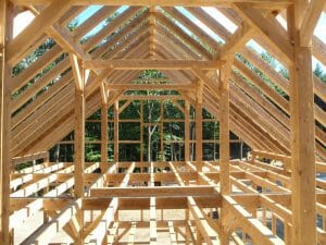 timber frame attic space