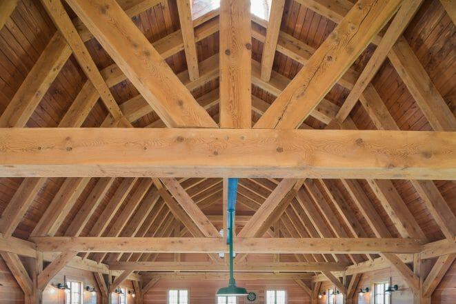 Slight Checking in a Hemlock Timber Frame Barn