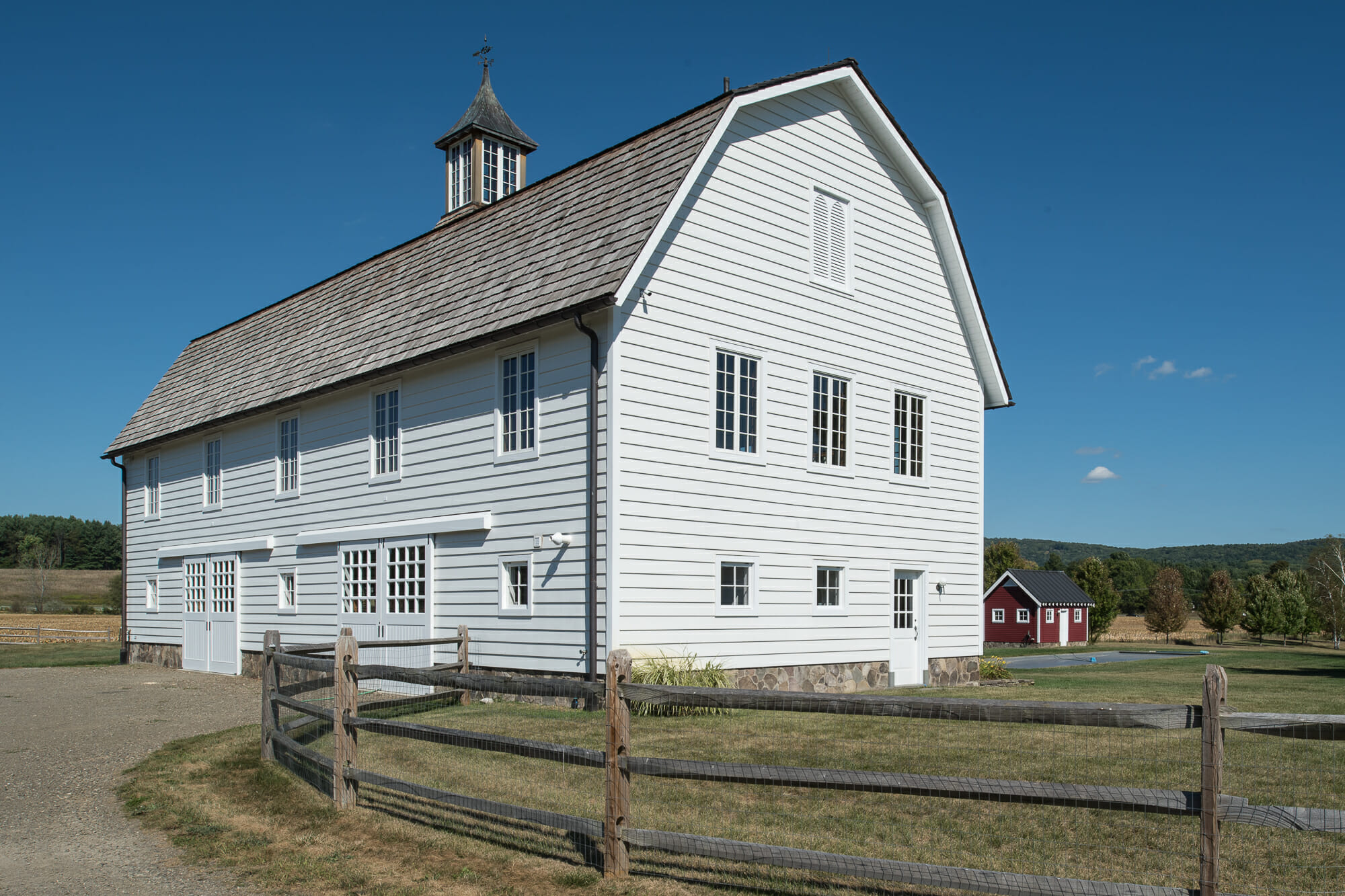 Exterior of Gambrel style Barn Eberhart Barn in Upstate NY