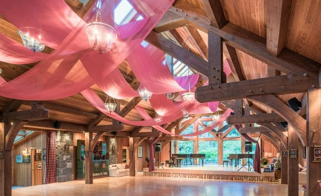 Trusses in a Dance Hall In VT
