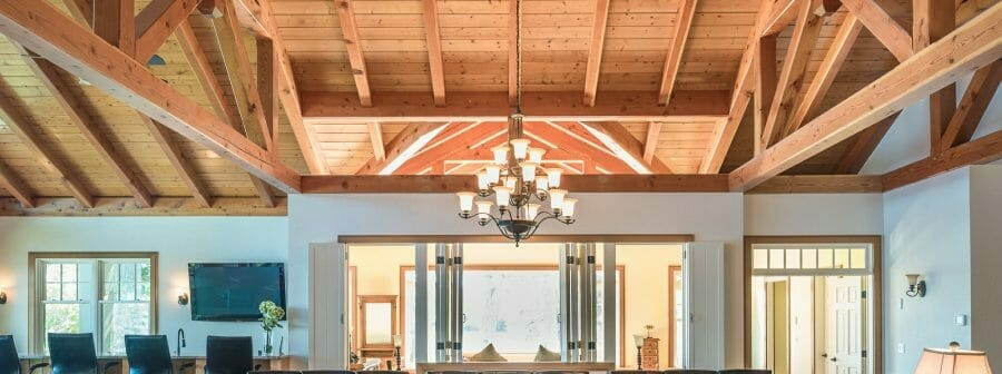 Trusses and Exposed Beams in Wakenah Great Room