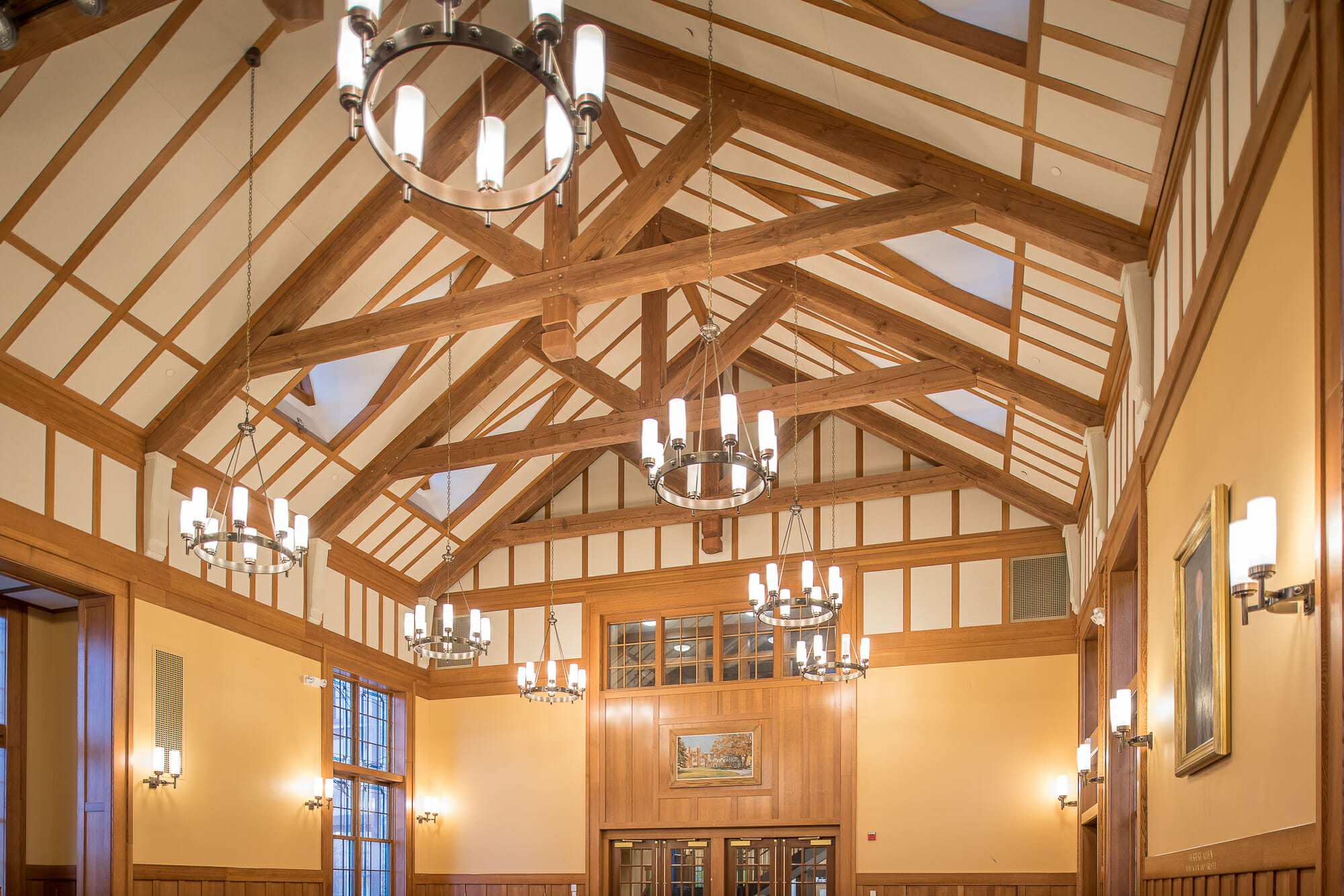 cedar timber frame walkway handcrafted in vermont