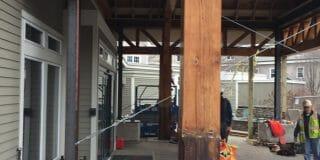 Rotten Timber Column