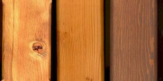 Douglas fir Stain finish options