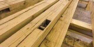 Reclaimed Oak in the workshop