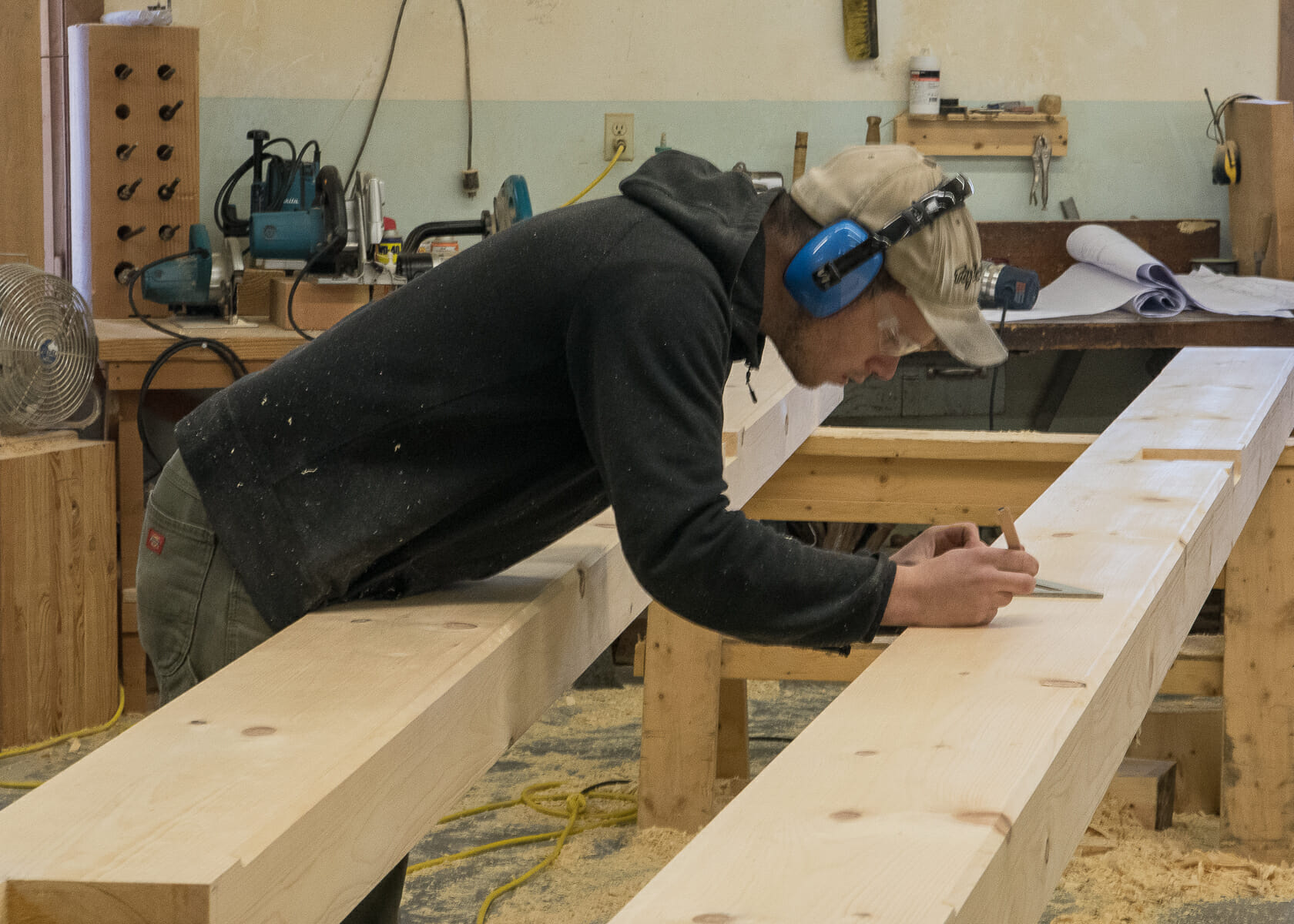 Fabricating Beams for a Custom Timber Frame