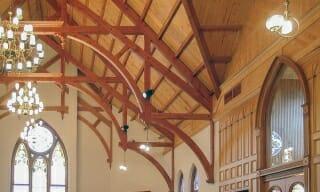 Church Ceiling Beams in Navasota, Texas