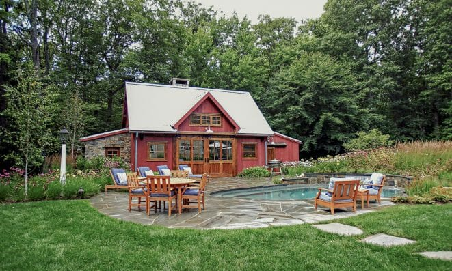 Outdoor Timber Frame Pool House