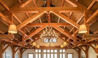 Modified Hammer Beam Truss for the Trapp Family Lodge in Vermont