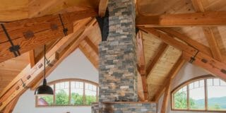 Ceiling Beams and Stone work in Award-winning Night Pasture Farm