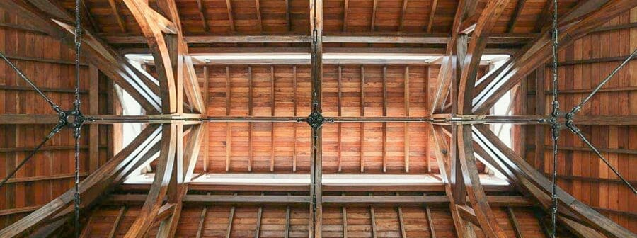 Interior of the ceiling of the Hamanasi Resort and Hotel in Belize