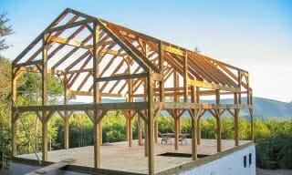 Gambrel Timber Frame Barn-House