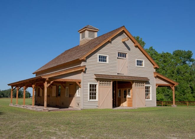 Timber Frame Carolina Horse Barn