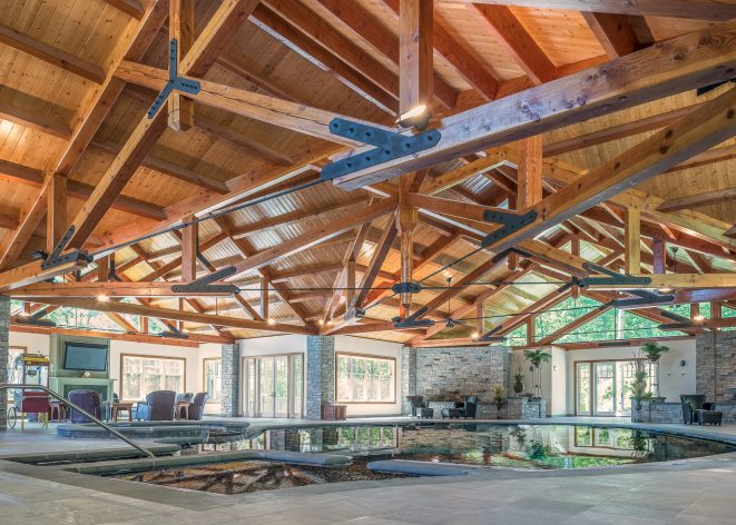 Timber Frame and Steel Indoor Pool House