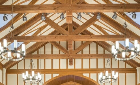 Trusses inside the Hackley School in Tarrytown, NY
