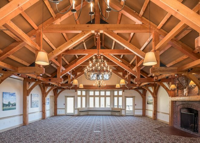 Modified Hammer Beam Trusses in the Trapp Family Lodge