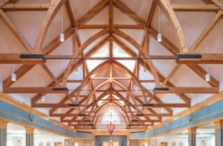 Trusses with Steel Tie Rods in the Immaculate Conception Church in Nashua, NH