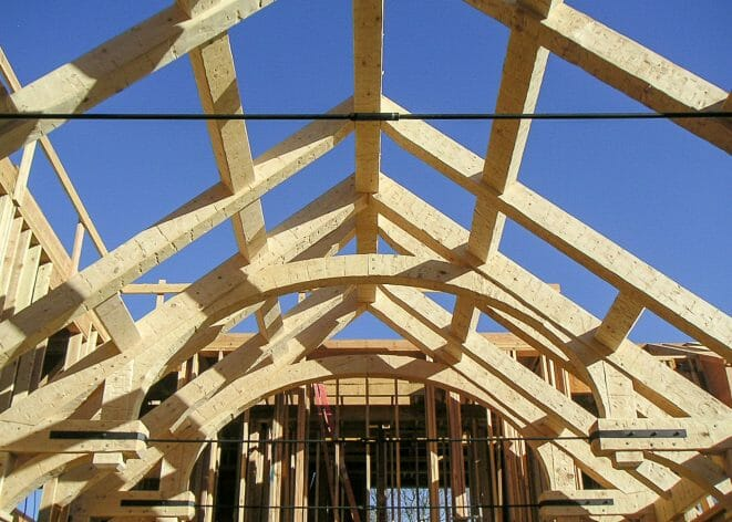 Rough Hewn Timber Trusses