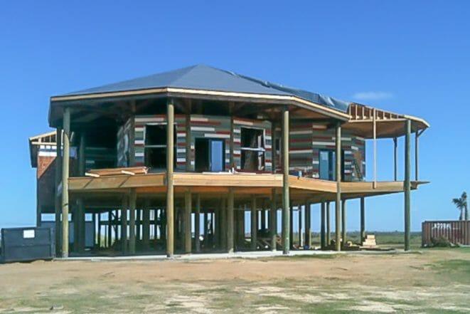 Douglas Fir Timber Frame Residence in Lake Charles, LA