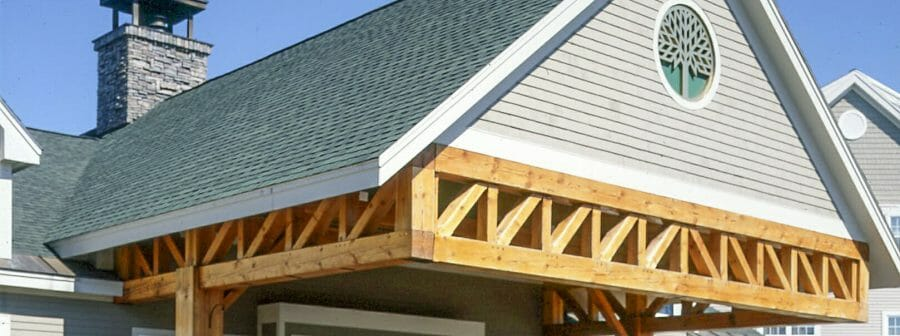 Timber Post and Beam Porte Cochere