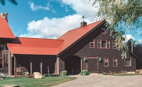 A Timber Frame farm home in New England