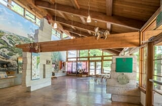 Interior of the Sams Point Visitors Center in Upstate NY