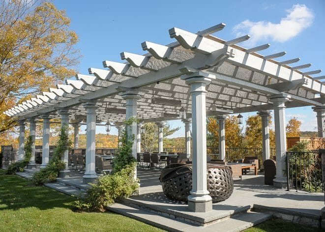 Timber Frame Pergola at High Winds