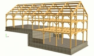 3D Barn Design, Bank Barn, Car Barn.