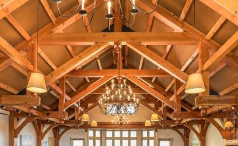 Modified Hammer Beam Trusses in the Trapp Family Lodge in Vermont