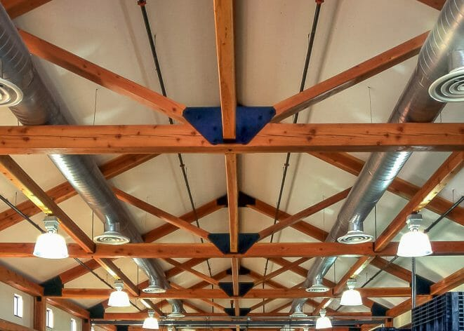 King Post truss with steel connection