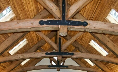 Trusses with Decorative Steel Plates