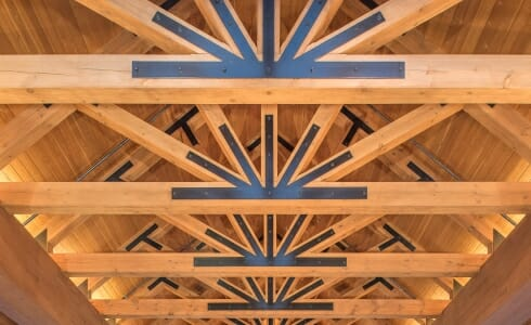 Trusses With Steel Joinery in the Oxford Casino
