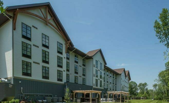 Timber Pergolas at Hotel Zero Degrees in CT