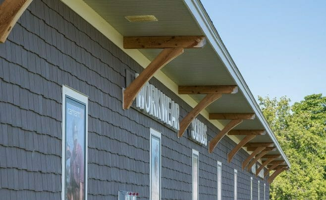 Exterior Timber Details of Lenny's Shoe Store