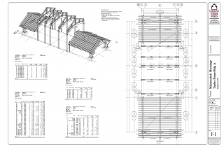 Vermont Timber Work's Plans for the Mahamudra Buddhist Hermitage that included a Timber Frame Porte Cochere and Glulam Arches