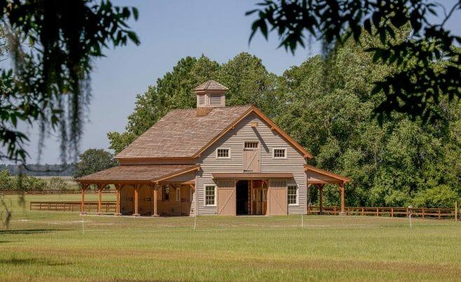 Horse barn timber framed
